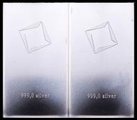 Lot of (2) 10 Gram Silver Valcambi Mint Bullion Bars (Uncut) at PristineAuction.com