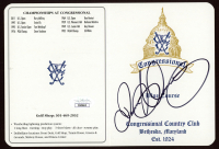 Rory McIlroy Signed Congressional Blue Course Country Club Golf Score Card (JSA COA) at PristineAuction.com