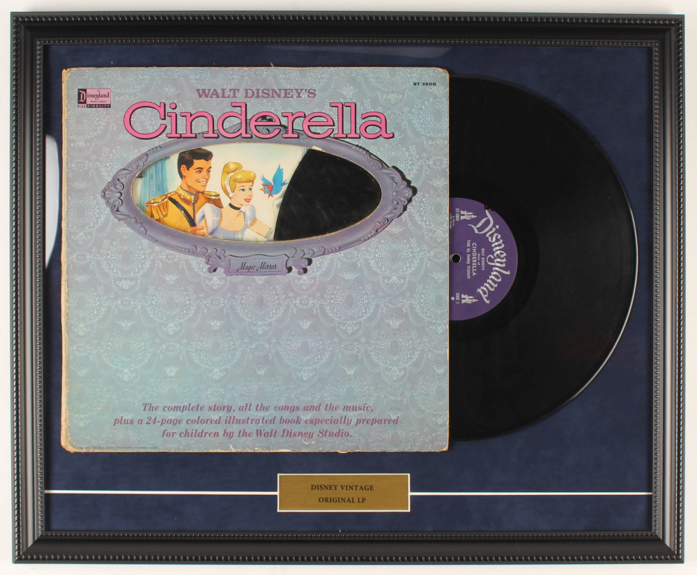 "Walt Disney's Story of ""Cinderella"" 18x22 Custom Framed Vinyl Record LP Display at PristineAuction.com"