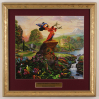 "Thomas Kinkade ""The Sorcerer's Apprentice"" 16x16 Custom Framed Print Display at PristineAuction.com"