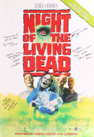 """Night of the Living Dead"" 27x40 Movie Poster Signed by (6) with Tom Towles, Tony Todd, William Butler, Bill Moseley with Inscriptions (Beckett LOA) at PristineAuction.com"