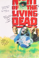"""""""Night of the Living Dead"""" 27x40 Movie Poster Signed by (6) with Tom Towles, Tony Todd, William Butler, Bill Moseley with Inscriptions (Beckett LOA) at PristineAuction.com"""