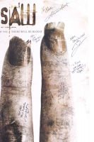 """""""Saw II"""" 27x40 Movie Poster Signed by (7) with Tobin Bell, Shawnee Smith, Timothy Burd, Noam Jenkins with Inscriptions (Beckett LOA) at PristineAuction.com"""