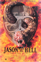 """""""Jason Goes to Hell: The Final Friday"""" 27x40 Movie Poster Signed by (5) with John D. LeMay, Erin Gray, Kane Hodder, Rusty Schwimmer & Leslie Jordan with Inscriptions (Beckett LOA) at PristineAuction.com"""