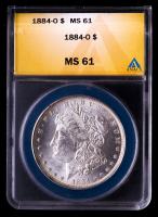 1884-O Morgan Silver Dollar (ANACS MS61) at PristineAuction.com
