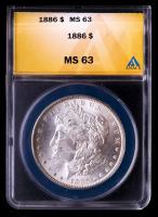 1886 Morgan Silver Dollar (ANACS MS63) at PristineAuction.com