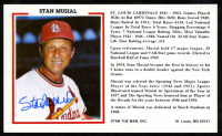 Stan Musial Signed Cardinals Postcard (JSA COA) at PristineAuction.com