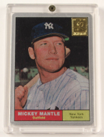 Mickey Mantle 1961 The Finder Series Card #9 Replica With Display Case at PristineAuction.com