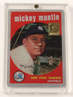 Mickey Mantle 1959 The Finder Series Card #11 Replica With Display Case at PristineAuction.com