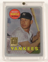 Mickey Mantle 1969 The Finder Series Card #1 Replica With Display Case at PristineAuction.com