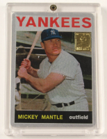 Mickey Mantle 1964 The Finder Series Card #6 Replica With Display Case at PristineAuction.com