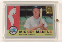Mickey Mantle 1960 The Finder Series Card #10 Replica With Display Case at PristineAuction.com