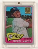 Mickey Mantle 1965 The Finder Series Card #5 Replica With Display Case at PristineAuction.com