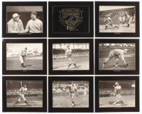 Set of (9) Conlon Collection Master Series 8x10 Glossy Lithographs With Babe Ruth, Ty Cobb, Lou Gehrig at PristineAuction.com
