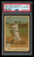 Ted Williams 1959 Fleer #13 / 1939 / Ted Shows He Will Stay (PSA Authentic) at PristineAuction.com