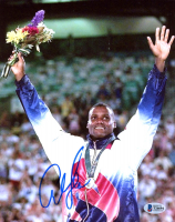 Carl Lewis Signed Team USA 8x10 Photo (Beckett COA) at PristineAuction.com