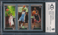 2003-04 Topps Rookie Matrix #JAW LeBron James RC / Carmelo Anthony  RC / Dwyane Wade RC (BCCG 9) at PristineAuction.com