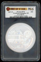 2017-P 5 oz Silver Jumbo 25¢ - Frederick Douglass - District of Columbia - America The Beautiful - ATB - Jumbo Quarter - First Day of Issue (PCGS SP 70) at PristineAuction.com