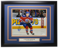 Connor McDavid Signed Oilers 16x20 Custom Framed Photo (JSA COA) at PristineAuction.com