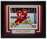 Henrik Zetterberg Signed Red Wings 11x14 Custom Framed Photo (JSA COA) at PristineAuction.com