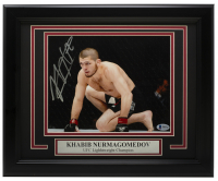 Khabib Nurmagomedov Signed UFC 11x14 Custom Framed Photo (Beckett COA) at PristineAuction.com
