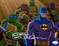 "Kevin Eastman Signed ""Batman vs. Teenage Mutant Ninja Turtles"" 8x10 Photo with Hand-Drawn Turtle Sketch (JSA COA) at PristineAuction.com"