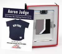 AARON JUDGE 2016 NY YANKEES GAME-WORN BP JERSEY MYSTERY SWATCH BOX! at PristineAuction.com