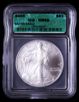 2004 American Silver Eagle $1 One Dollar Coin (ICG MS69) at PristineAuction.com