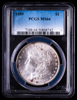 1889 Morgan Silver Dollar (PCGS MS64) at PristineAuction.com