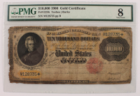 1900 $10,000 Ten-Thousand Dollar U.S. Gold Certificate Bank Note (PMG 8) at PristineAuction.com