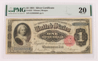 1891 $1 One-Dollar U.S. Silver Certificate Large-Size Bank Note (PMG 20) at PristineAuction.com