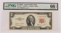 Star Note - 1953-C $2 Two-Dollar Red Seal U.S. Legal Tender Bank Note (PMG 66) (EPQ) at PristineAuction.com