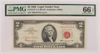 Star Note - 1963 $2 Two-Dollar Red Seal U.S. Legal Tender Bank Note (PMG 66) (EPQ) at PristineAuction.com