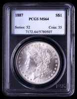1887 Morgan Silver Dollar (PCGS MS64) at PristineAuction.com
