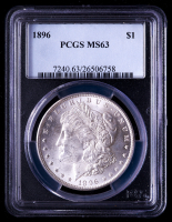 1896 Morgan Silver Dollar (PCGS MS63) at PristineAuction.com