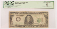 1934-A $500 Five-Hundred Dollar Federal Reserve Note (PCGS 12) (Apparent) (Mule) at PristineAuction.com