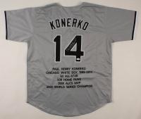 Paul Konerko Signed Career Highlight Stat Jersey (JSA COA) at PristineAuction.com