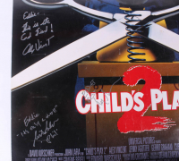 """Child's Play 2"" 27x40 Movie Poster Cast-Signed by (4) with Alex Vincent, Christine Elise, Gerrit Graham & Greg Germann with Multiple Inscriptions (Beckett LOA) at PristineAuction.com"