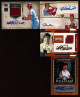 Lot of (4) Mike Schmidt Baseball Cards with 2007 Upper Deck Premier Hallmarks Autographs #MS, 2010 Panini Century Jerseys Prime Autographs #85,  2005 Upper Deck Hall of Fame Seasons Autograph-Patch Silver #MS3 at PristineAuction.com