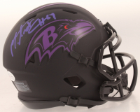 Mark Andrews Signed Ravens Eclispe Alternate Speed Mini-Helmet (Beckett COA) at PristineAuction.com