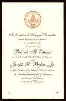 Barack Obama & Joe Biden 2013 Inauguration Invitation 8x6 Letter at PristineAuction.com