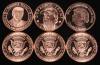 Lot of (6) 2020 Donald Trump Presidential Collectable Coins at PristineAuction.com