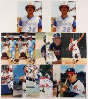 Lot of (10) Signed Braves 8x10 Photos with Bo McLaughlin, Mike De La Hoz, Del Crandall and Dal Maxvill (JSA ALOA) at PristineAuction.com