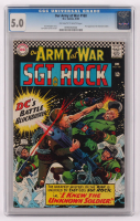 "1966 ""Our Army At War"" Issue #168 DC Comic Book (CGC 5) at PristineAuction.com"