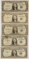Lot of (5) 1935 & 1957 $1 One-Dollar U.S. Silver Certificates at PristineAuction.com