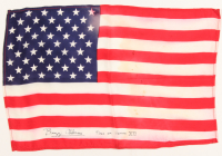 """Buzz Aldrin Signed American Flag Inscribed """"Flown On Gemini XII"""" (PSA LOA) at PristineAuction.com"""