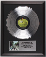 "Original Vintage The Beatles ""Abbey Road"" 16x20 Custom Framed Vinyl Record Display at PristineAuction.com"
