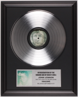 "Original Vintage John Lennon's ""Imagine"" 16x20 Custom Framed Vinyl Record Display at PristineAuction.com"