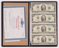 Uncut Sheet of (4) 2003 $2 Two-Dollar U.S. Federal Reserve Notes at PristineAuction.com