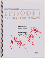 "Ray Park Signed ""Star Wars: Episode I – The Phantom Menace"" Script with Inscription (PSA Hologram) at PristineAuction.com"